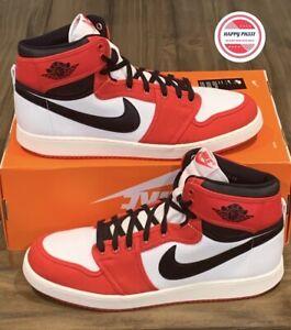 Nike Air Jordan 1 KO 'Chicago' Red White Canvas DA9089 100 Men's Size 12.5 New