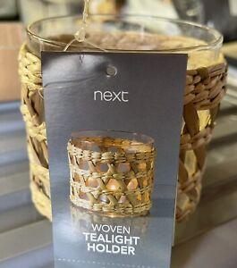 New Next Wicker Woven Tealight Holder-brand New In Box