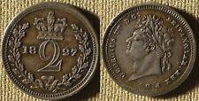 Great Britain : 1827  2  Pence  AU-UNC  Nice #684   IR7657