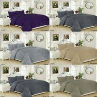 Luxury Fleece Teddy Bear Duvet Cover Set OR Fitted Sheet,Pillow Cases UK STOCKS