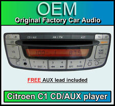 CITROEN c1 CD Player Radio Stereo Radio with Aux input, Free Aux Cable
