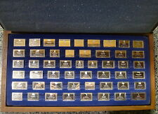 FRANKLIN MINT SILVER INGOTS STATE FLAGS STERLING SILVER Complete 50 pc set RARE