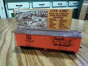 "HO Life-Like ""Santa Fe - The Grand Canyon Line Wood Reefer SFRD #25077 Excellent"