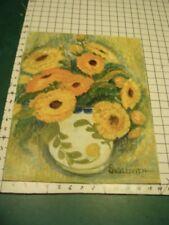 Original ROSE SUSLOVICH ART: Signed -- FLOWERS in vase, van goghish