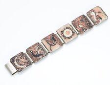 Vintage German Matte Enamel Silver Bracelet