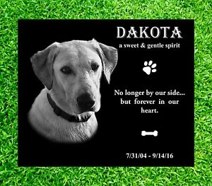 "8x6"" Pet Headstone, tombstone Laser Engraved, Grave Marker monument, non granite"
