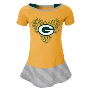 "Green Bay Packers NFL ""Fancie"" Infant Girls Drop Waist Dress"
