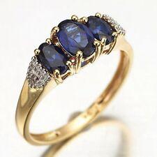 Fashion Size 10 Elegant Blue Topaz 10KT Gold Filled Engagement Ring For Women's