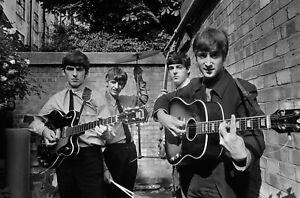 Beatles 1963 in London Black & White photograph sharp details