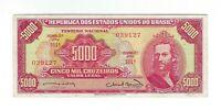 5000 Cruzeiros Brasilien 1963 C107 / P.182a - Brazil Banknote