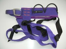 BLACK DIAMOND Purple CLIMBING HARNESS Safety Wall Gym Caving Gear Sz Adult M