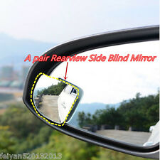 2pcs Car HD Mirror RearView Wide Angle Adjustable Blind Spot Side Parking Mirror