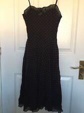 Divided By H&M Black /red Polka Dot Flared Full Skirt Dress USA 4, Uk Size 8