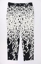 Bluemarine White and Black Print Skinny Leg Pants Size 42/8