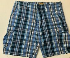 THE FOUNDRY Men's Size 44 Plaid Bermuda Cargo Shorts
