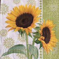 2 single paper napkins decoupage craft Flower Sunflower vintage sunflowers