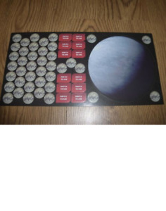 STAR TREK ATTACK WING - THE ORGINAL SERIES OP EVENT - BOARD AND TOKENS