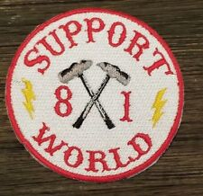 Red & White support patch Biker motorcycle patch NOMADS 81 Supporter