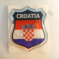 Sticker Croatia Emblem 3D Resin Domed Gel Croatia Flag Vinyl Decal Car Laptop