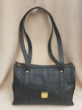 Orig. MCM Vintage Shopper Schulter Tasche schwarz Monogram 39x14x26 cm