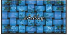 CHECKBOOK COVER PERSONALIZED SHADES OF BLUE WEAVED