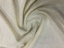CREAM POLYESTER TOWELING FABRIC SOFT Material Cloth Material Sun Beds 170CM