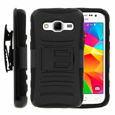For Samsung Galaxy Prevail LTE G360 Holster Clip Stand Black Heavy Duty Case