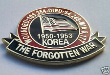 KOREA 1950-1953 THE FORGOTTEN WAR  Military Veteran Hat Pin P62496 EE