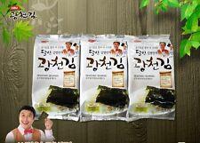 4g X 12packs Roasted Seasoned Seaweed Green Laver Nori Snack Healthy Korean food