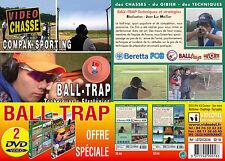 Lot 2 DVD Ball trap : technique & stratégie fosse universelle & Parcours compack