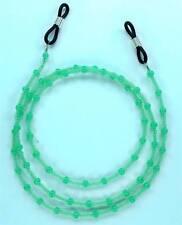 Ceylon Jade Toho Glass Seed Beads Eyeglass Holder, Chains