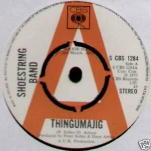 "SHOESTRING BAND~THINGUMAJIG / MAKE YOU FEEL GOOD~1973 UK ""PROMO"" VINYL 7"" SINGLE"