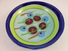 Lasser Ceramics Jaded Bright Multicolor Modern Studio Art Pottery Bowl - 8.25