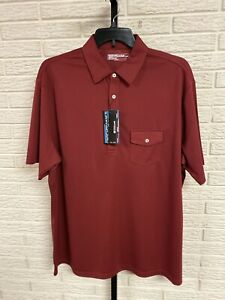 PERFORMANCE coolcore mens STRETCH polo shirt RED maroon 4XLT NEW $59.50 #G242