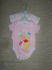 12/2 NEW BABY PINK WINNEY THE POO DISNEY ROMPER SET 3-6 MONTHS
