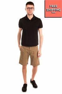 RRP €105 GANT RUGGER Shorts Size 30 Linen Blend Dye Worn Zip Fly