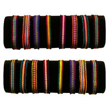 #3502 Pack 50 Friendship Bracelets Hand Made Artisan Peru Wholesale Pack Lot New