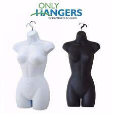 Only Hangers Set Of Black & White Women's Plastic Torsos Hanging Body Forms