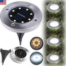 8/12LEDs Solar Light Home Outdoor Garden Ground Lamp Yard Path Way Buried Light