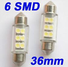 10x Soffitte Sofitte Weiß 6 SMD 3528 LED Innenraum Lampe Licht Birne 36mm