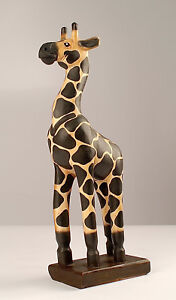 Giraffe aus Holz, H:ca. 55cm, Skulptur, Figur, Handarbeit, Deko, Afrika, Zoo