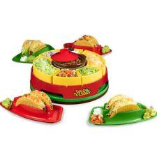 Nostalgia Taco Tuesday Lazy Susan Taco Topping Bar for Burritos Nachos Fajitas