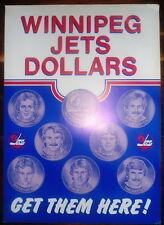 1983 Winnipeg Jets Store Display Poster, Hawerchuk...