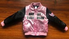 Harley Davidson Toddler Jacket 4T Pink Bomber