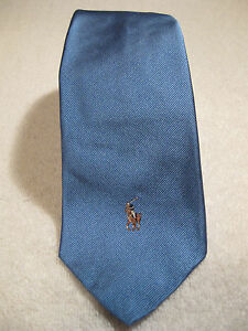 NWT $125 POLO Ralph Lauren 100% Silk Tie Handmade in Italy Light Blue