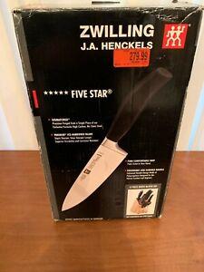 Zwilling J.A. Henckels 30111-008 Five Star 8 Piece Knife Block Set. New in box.
