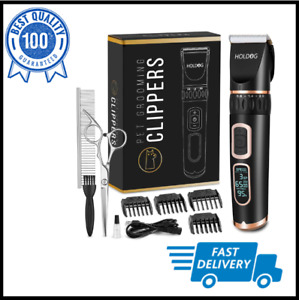 Dog Grooming Clippers Professional Rechargeable Cordless Pet Hair Trimmer Cutter