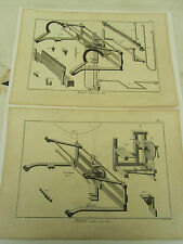 Encyclopédie Panckoucke Bas, métier à faire des bas 10 planches 1783 complet