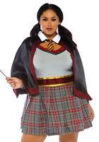 SPELLBINDING SCHOOL GIRL Harry Potter Halloween Plus Size Adult  Costume