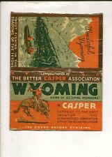 Vintage Matchbook cover! Used. Collectible Casper Association Wyoming!